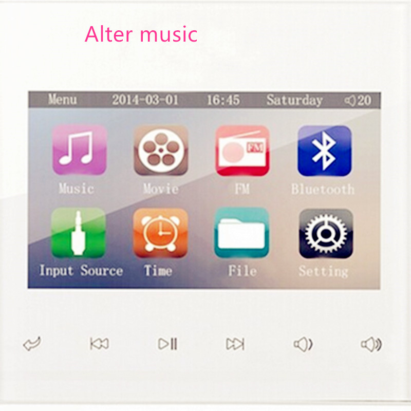 New 2014 Bluetooth Room Music Player 3inch TFT Screen Home Theatre FM/SD/BT/USB/3.5mm Audio Video Player 200 Free Shipping<br><br>Aliexpress