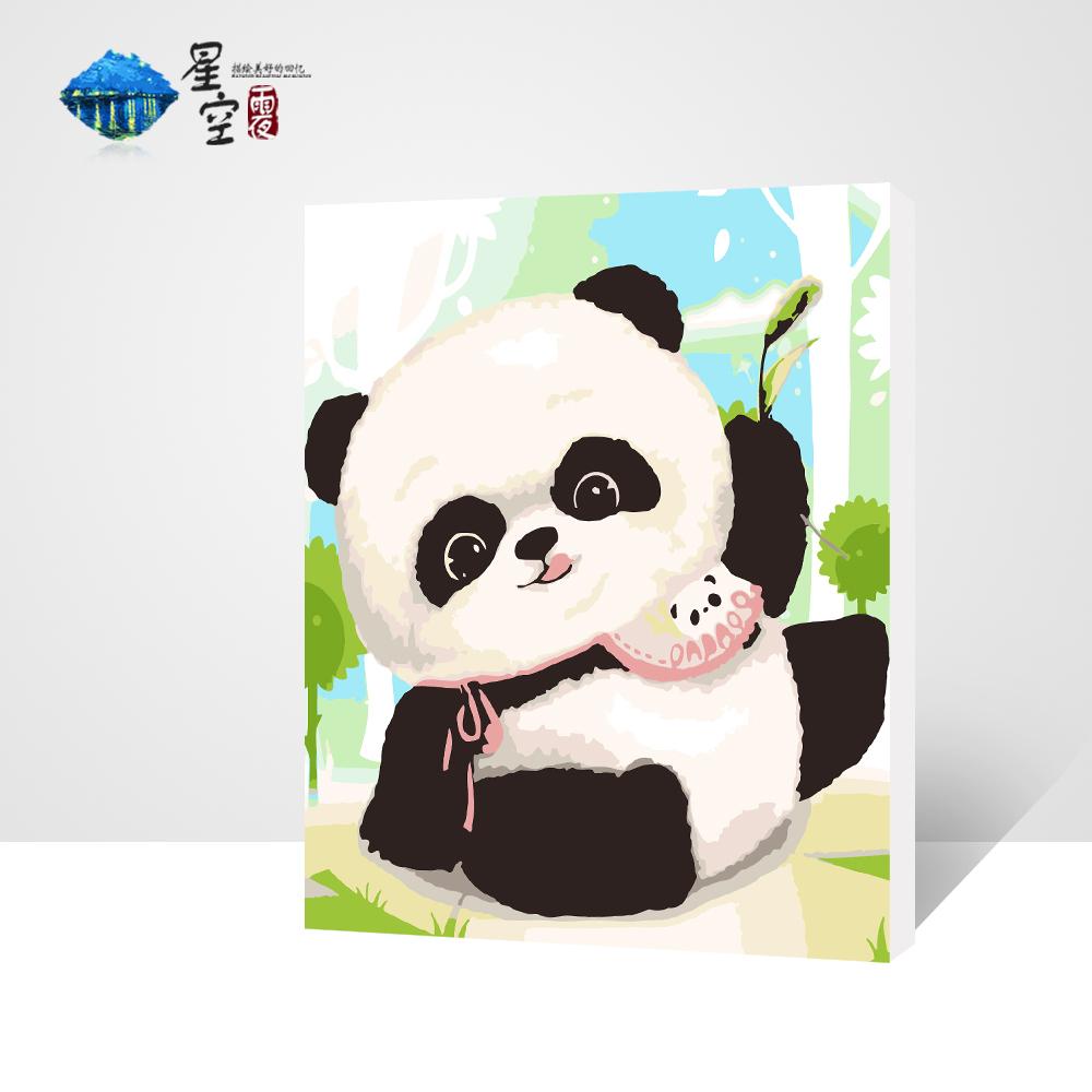 DIY digital oil painting cartoon cartoon animal cartoon children living room bedroom large decorative picture 30*40cm with inner(China (Mainland))