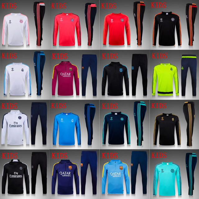 Hot selling Franced maillot de foot Soccer Tracksuit Training Suit 2016 Survetement Football soccer Jogging pants jerseys(China (Mainland))