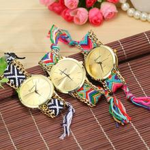 3 Colors New Fashion Brand Handmade Rope Bracelet Women Watch Geneva Hand-Woven Watch Ladies Quarzt Watch AW-SB-1165