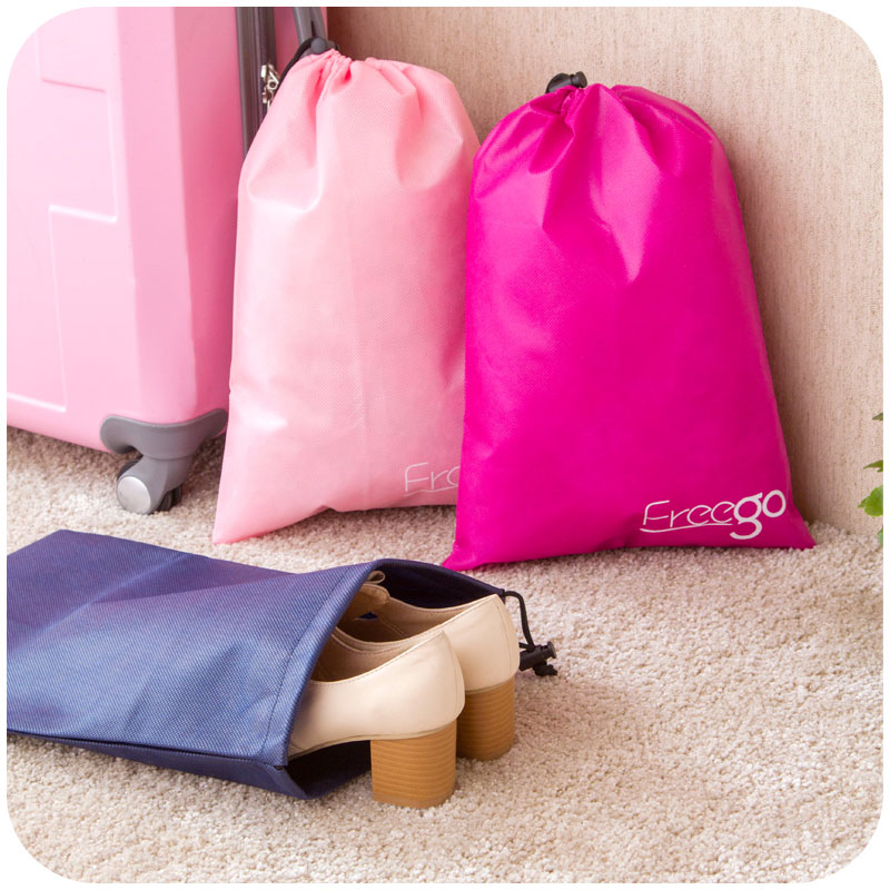 New Arrival Thickening Storage Bags Casual Square Drawstring Dust Bags Travel Bags Portable Shoe Bags Container 41*29cm 2 Pcs(China (Mainland))