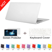 Hot sale colorful Rubberized Frosted Surface  laptop bag sleeve case cover for macbook air 11 12 13 inch without logo(China (Mainland))