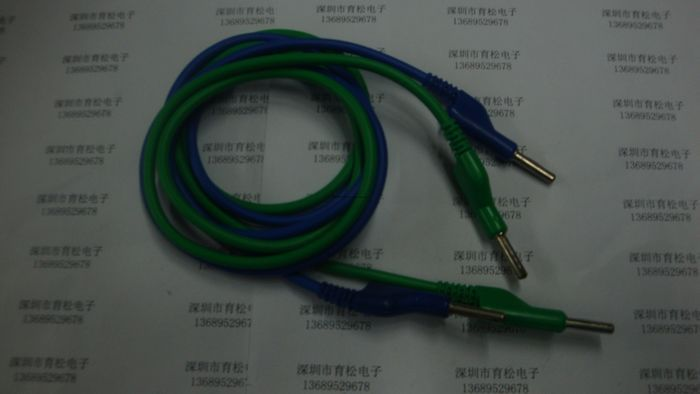 Blue-Green A-A Guide wire high voltage cable test silicone line quality test lead(China (Mainland))