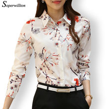 Soperwillton 2016 New Arrival Women's Printed Shirts Blouse Long Sleeve Casual Plus Size Blusas Women Floral Blouse Femme #SY509(China (Mainland))
