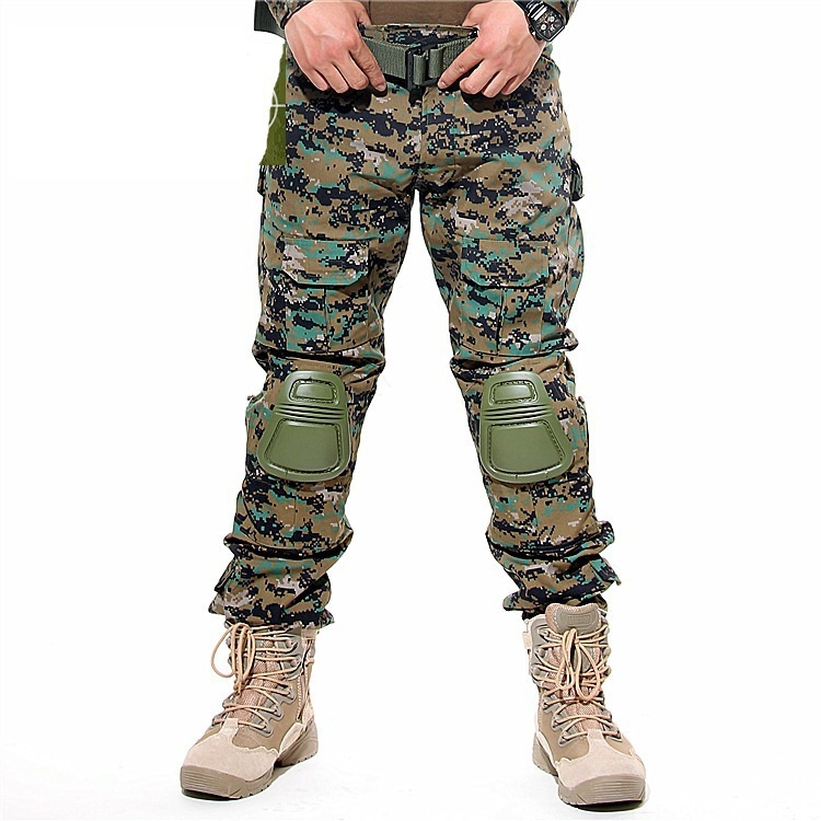 Military Pants New Arrival High Quality Men's Camouflage Casual Cargo Pants Military Camo Multi-Pocket Outdoor Pants For Men(China (Mainland))