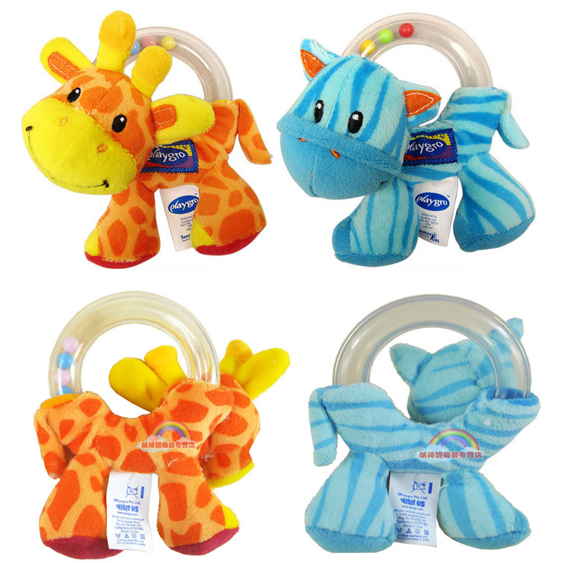 2015 new baby rattles ring Beads grasping rattles circle game giraffe baby rattles early childhood educational toys(China (Mainland))