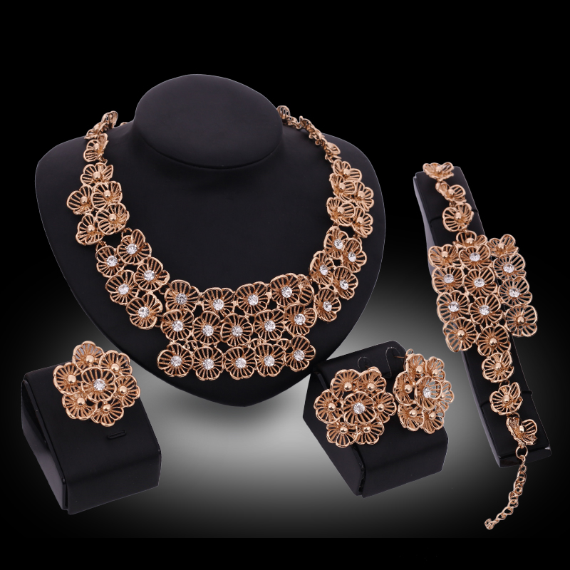 new fashion wholesale african costume jewelry sets 18k