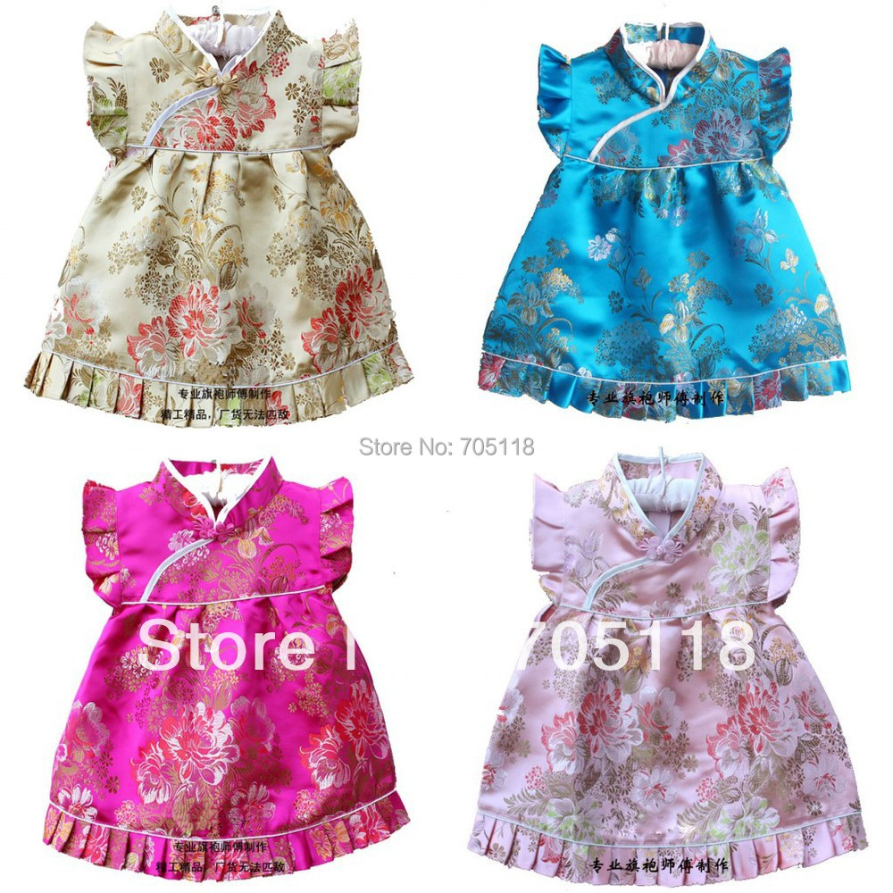 QZ-7 2013 new free shipping special offer!girl dress /baby clothing/Chinese Dress /cheongsam/qipao/suits/formal dress retial(China (Mainland))