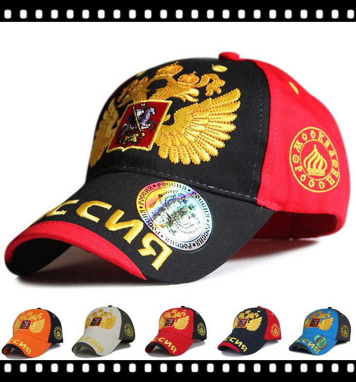 Summer Style Golden Double Headed Eagle Embroidered Football Player Baseball Cap Adjustable Golf Cap Camping Hat Min $10(China (Mainland))