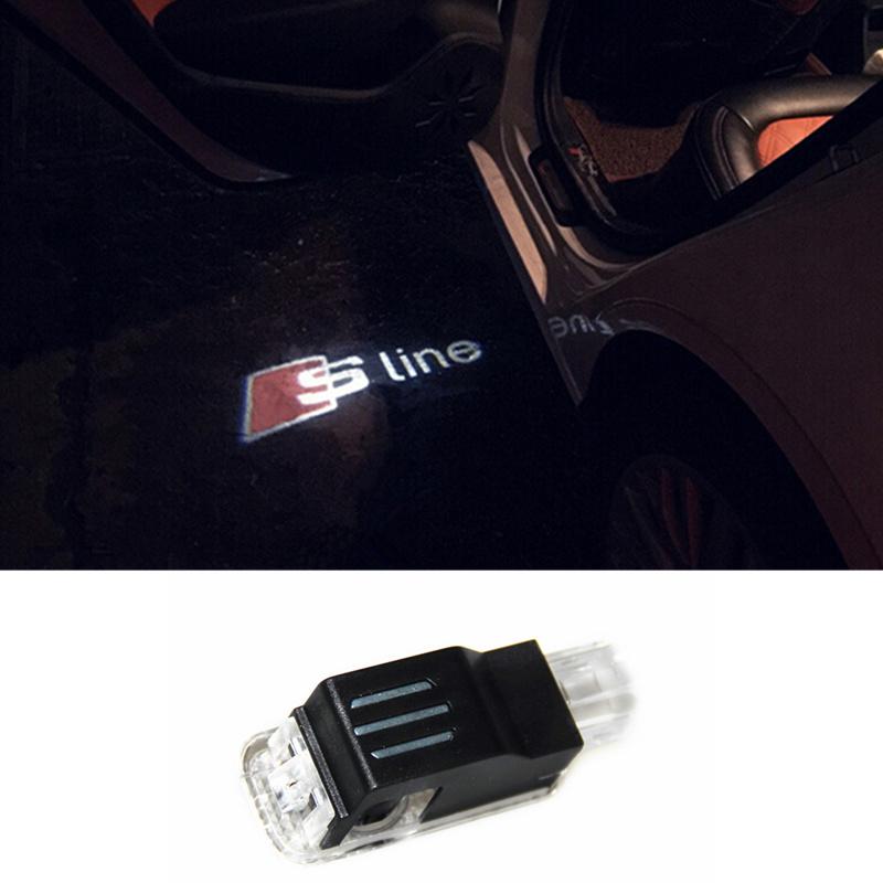 Car LED Courtesy Door Logo Projector Light Ghost Shadow Light FOR Audi A3 A4 A5 A6 A7 A8 R8 Q3 Q5 Q7 TT 80 A1 A4L A6L S line(China (Mainland))