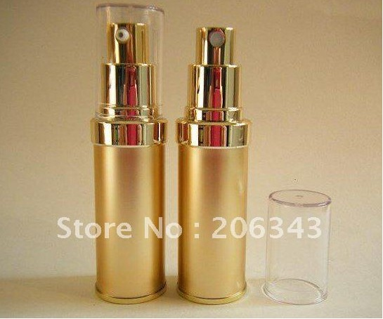 20ML gold airless lotion plastic bottle pump can used Cosmetic Packaging - all packing you want store