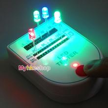 Nueva LED Tester caja de la prueba Mini portátil de diodo emisor de luz de la lámpara del bulbo 9 V 2 ~ ma