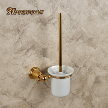 The ancient Sichuan copper antique European pastoral classical titanium golden toilet toilet brush cup bathroom hardware accesso(China (Mainland))