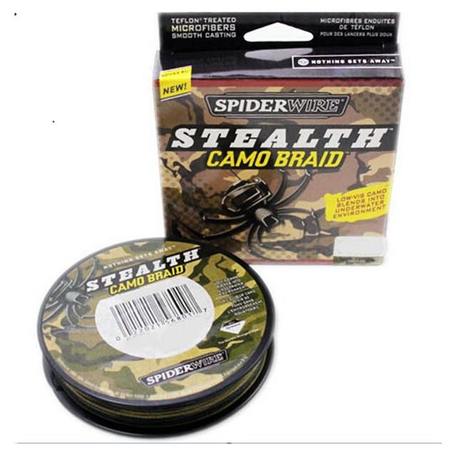 Spiderwire Stealth Camo Braid Fishing Line 300yd 15lb 30lb 50lb 65lb 80lb