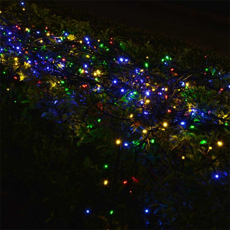 solar string 10m 50 led powered xmas garland fairy camping christmas decoration waterproof. Black Bedroom Furniture Sets. Home Design Ideas