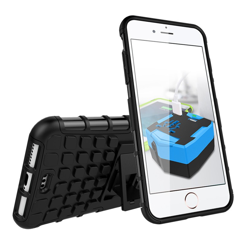 Aokin Rugged Hybrid case For iPhone 7 7plus Armor Hard Impact Stand Hard Cover For Apple iPhone 6/6plus/6s/5/5s/SE/5C Protector