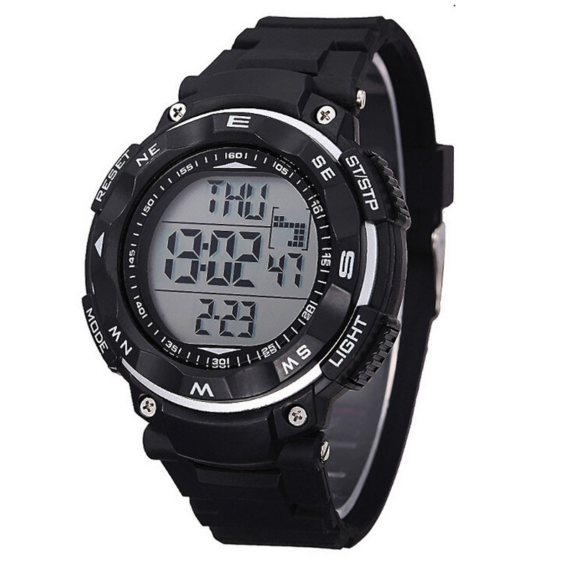 Newly Design 1PC SYNOKE New Waterproof Digital LED Quartz Alarm Date Sports Wrist Watch Black 160506(China (Mainland))