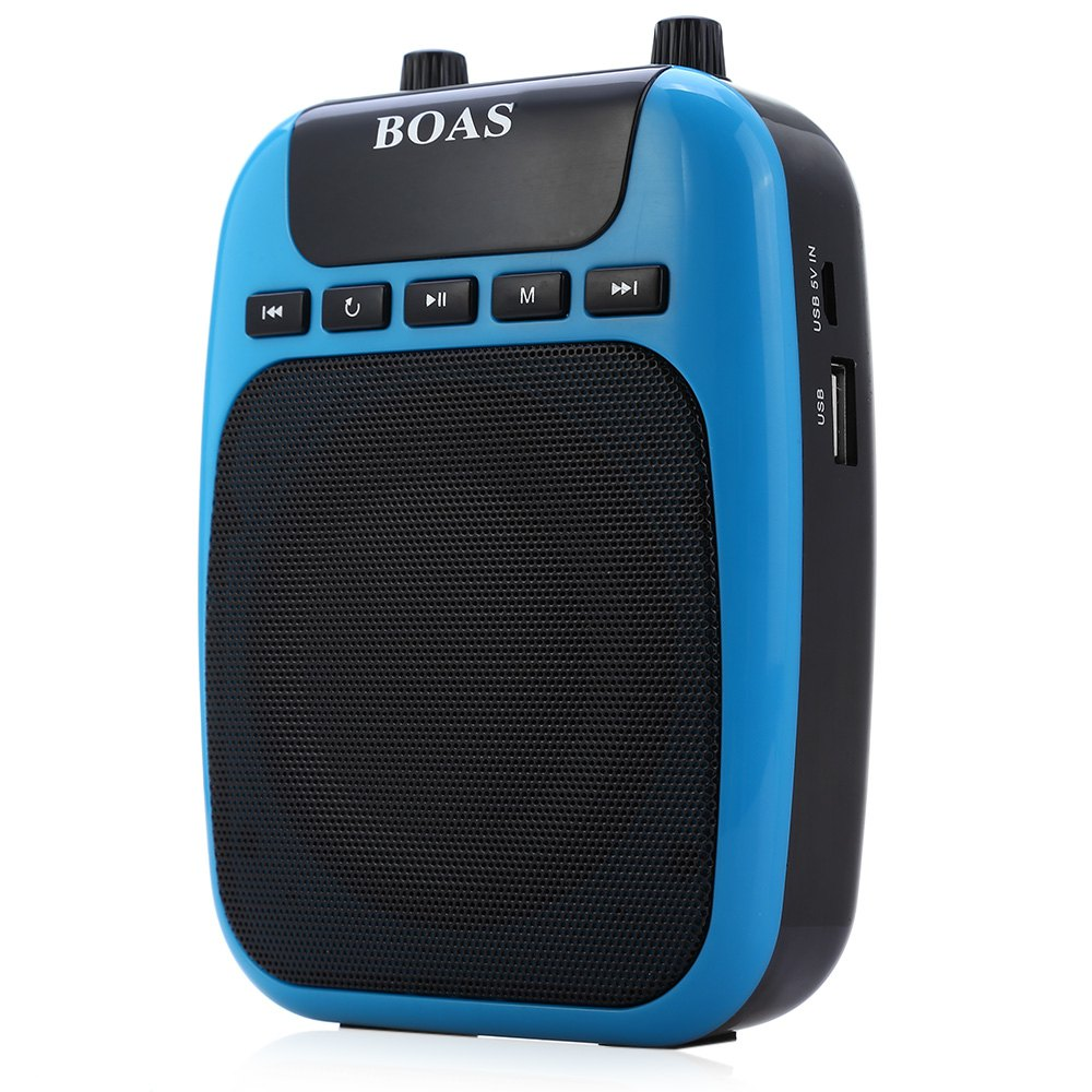 YITHOR Rechargeable Voice Amplifier MP3 Player Mini Music Speaker FM Radio Portable Sound Box PA System with Microphone(China (Mainland))