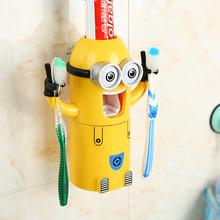 Новизна продукции детские чашки зубов творческие аксессуары для ванной комнаты комплект детям милый мультфильм миньон чистка зубных щеток кубок