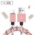 Metal Braided For lightning iOS Fast Charger Sync Data USB charger Cable For iPhone 7 6s