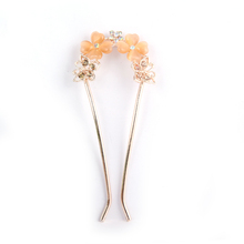 Exquisite Fashion Crystal Swarovski A Cat's-eye Butterfly U Dish Hair Chai Hair Fork Competitive Products Headwear(China (Mainland))