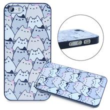Потому что кошки симпатичные смешные проектирует кожи чехол для iPhone 4 4S 5 5S 5C 6 6 плюс