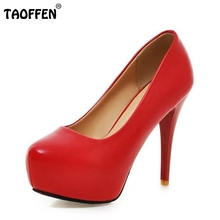 Buy Size 33-45 Women High Heel Shoes Fashion Ladies Thin Heels Classics Office Ladies Heeled Pumps Platform Stiletto Footwear for $25.67 in AliExpress store