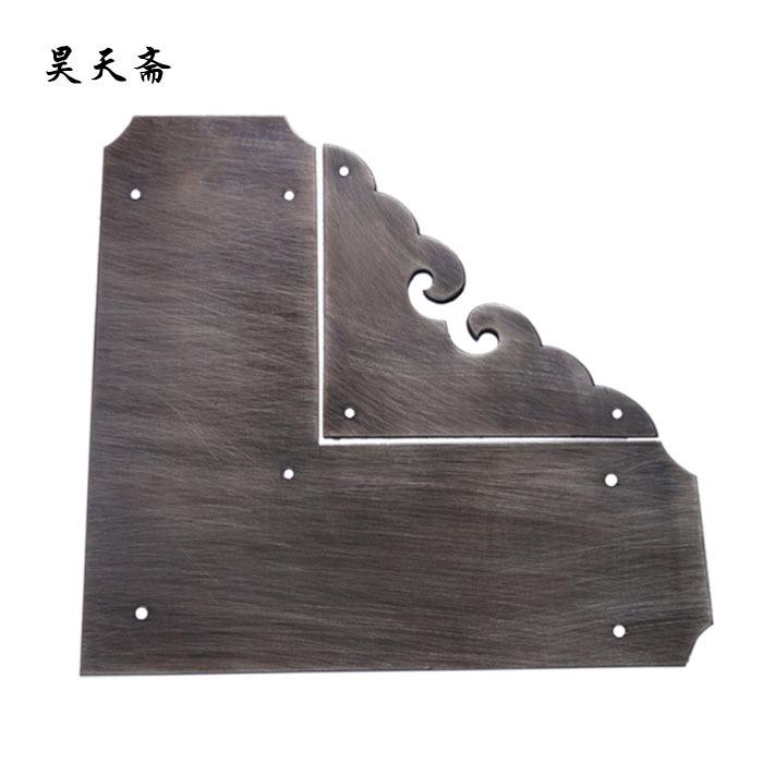 [Haotian vegetarian] antique copper wrap angle / corner piece / antique furniture copper ornaments / cupboard corners HTG-057<br><br>Aliexpress