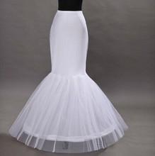 Envío gratis venta al por mayor enagua de la sirena 1 aro de hueso elástico vestido de boda de la crinolina de la trompeta 2015 enagua nupcial barato(China (Mainland))