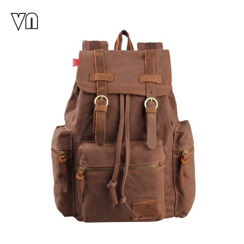 Buy 2016 Vintage Men 39 S Backpacks Women Rucksack Canvas Laptop Backpacks Female