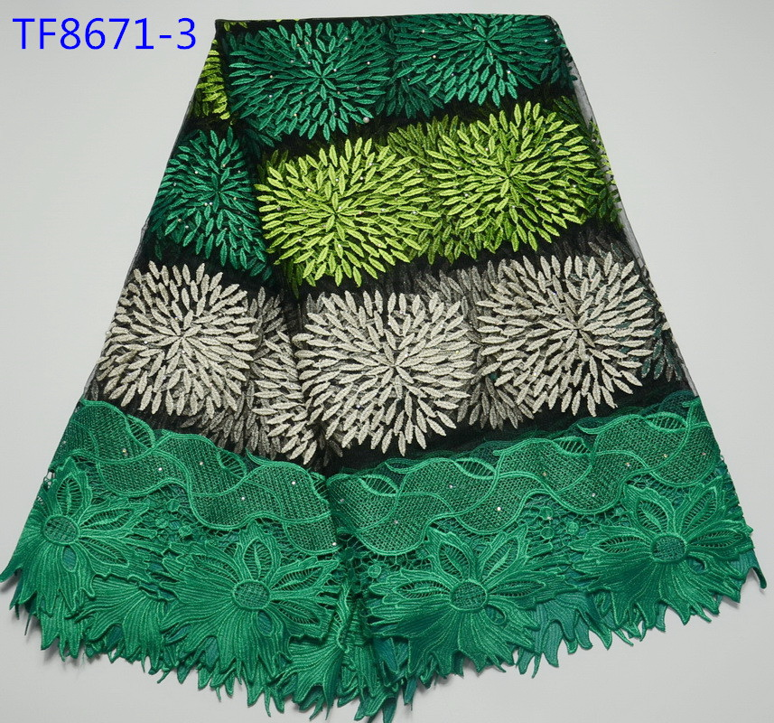 New sample african french lace fabric high quality promotion item wedding nigerian embroidery tulle laces fabric for women(China (Mainland))