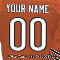 Men's #6 Jay #17 Alshon #23 Kyle #34 Walter #75 Kyle Men's Navy Orange White Football Jersey 100% Stitched with Customized(China (Mainland))