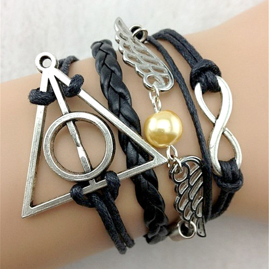 Angel wings hand woven supplies wholesale trade mostly triangular geometric infinite layer Bracelet(China (Mainland))