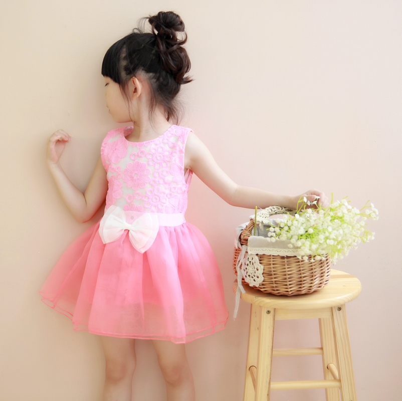 The new summer cottage Korean Princess Princess children Tutu solid cake dress baby girls(China (Mainland))