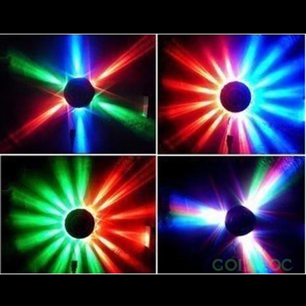 48 LED Bulbs Mini solar Lights Colorful Rotating Lights For KTV/ Disco / Bar / DJ / Party Stage Lights Sound Effect random color(China (Mainland))