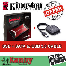Kingston HyperX Savage SSD 128GB hdd ssd 120gb + SATA to usb 3.0 disco duro externo laptop computer portable solid state disk(China (Mainland))