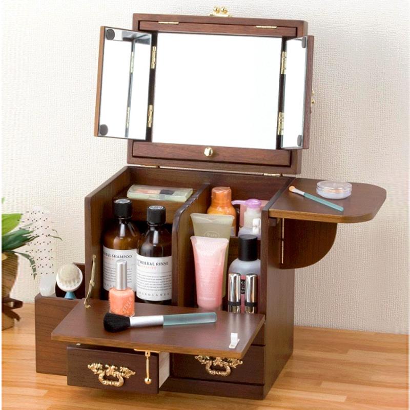 European style garden home yi little mini wooden dresser for Small makeup table