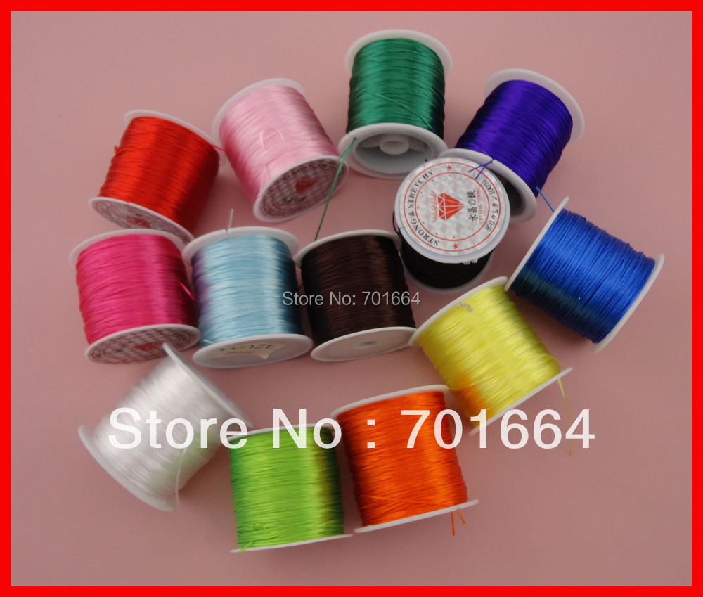 80meters per roll,high quality mixed colors floss elastic threads from Japan, elastic stretch beading cords as jewelry findings<br><br>Aliexpress