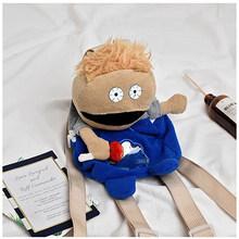 Милый Забавный кукла для женщин рюкзак мультфильм для девочек подростков высокое качество рюкзак для отдыха дизайнер дорожная сумка через ...(China)