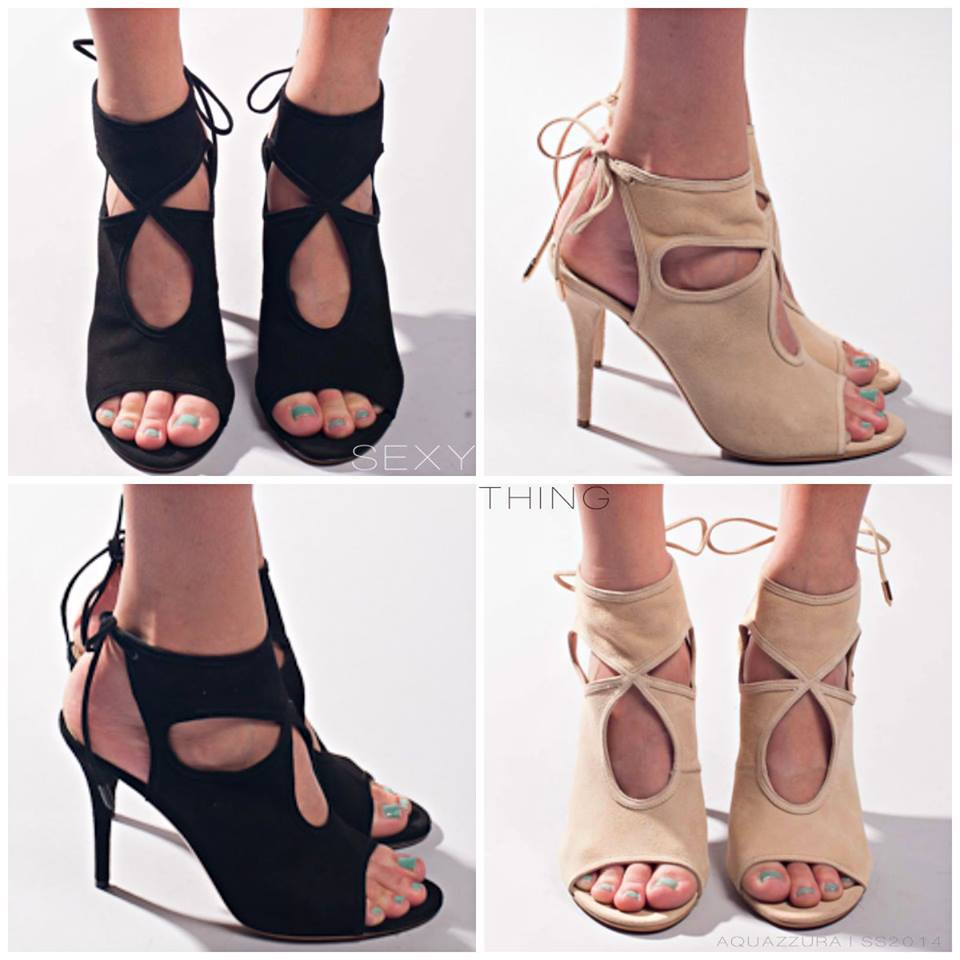 Aquazzura Lace Up Heels