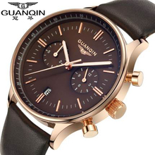 Origianl GUANQIN Top Brand Luxury Fashion Big Dial Designer Quartz Watches Men Waterproof Sapphire Mirror Luminous