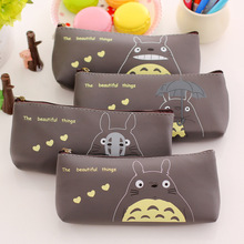 Kawaii Japan TOTORO School Pencil Bag Students Pen Case Girl's Cosmetics Purse Bag Wallet Coin Purse Stationery Promotional Gift