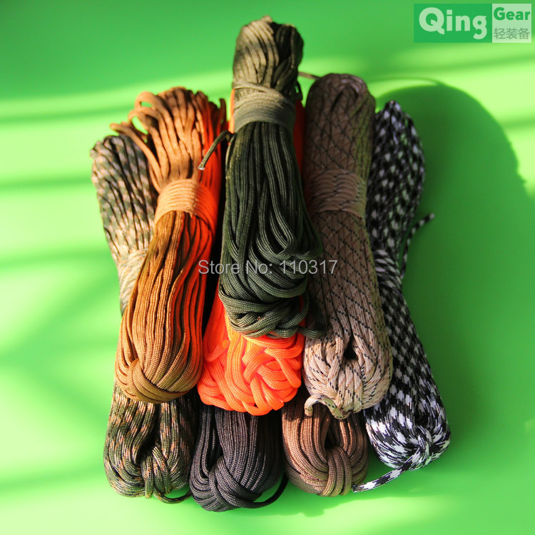 Paracord 550 Parachute Rope 7 Core Strand 100FT For Climbing Camping Buckles Bracelet , Free shipping(China (Mainland))