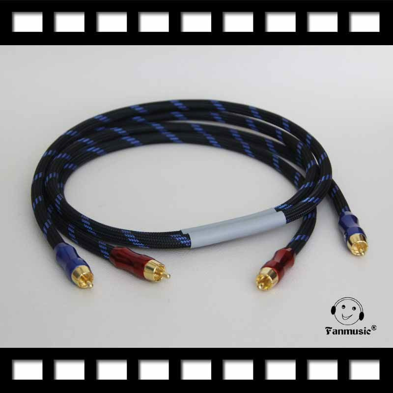 hifi quality AUDIO cable 2 RCA male to RCA Male Cables 2RCA to 2RCA 2-Channel Signal C<br><br>Aliexpress