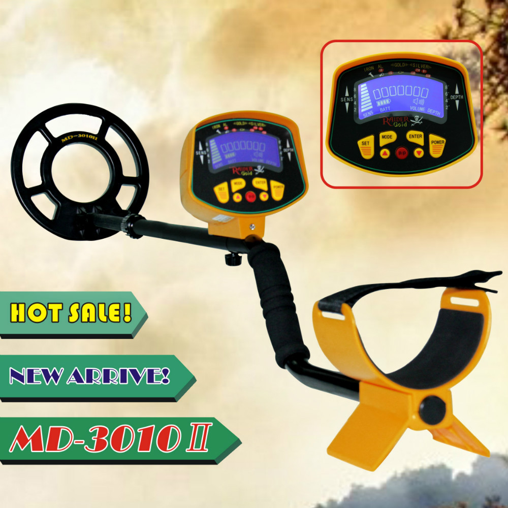 MD3010II Metal Detector underground Gold silver Digger Treasure Hunter detect Coins Jewelry All Metal automatically LCD Display(China (Mainland))