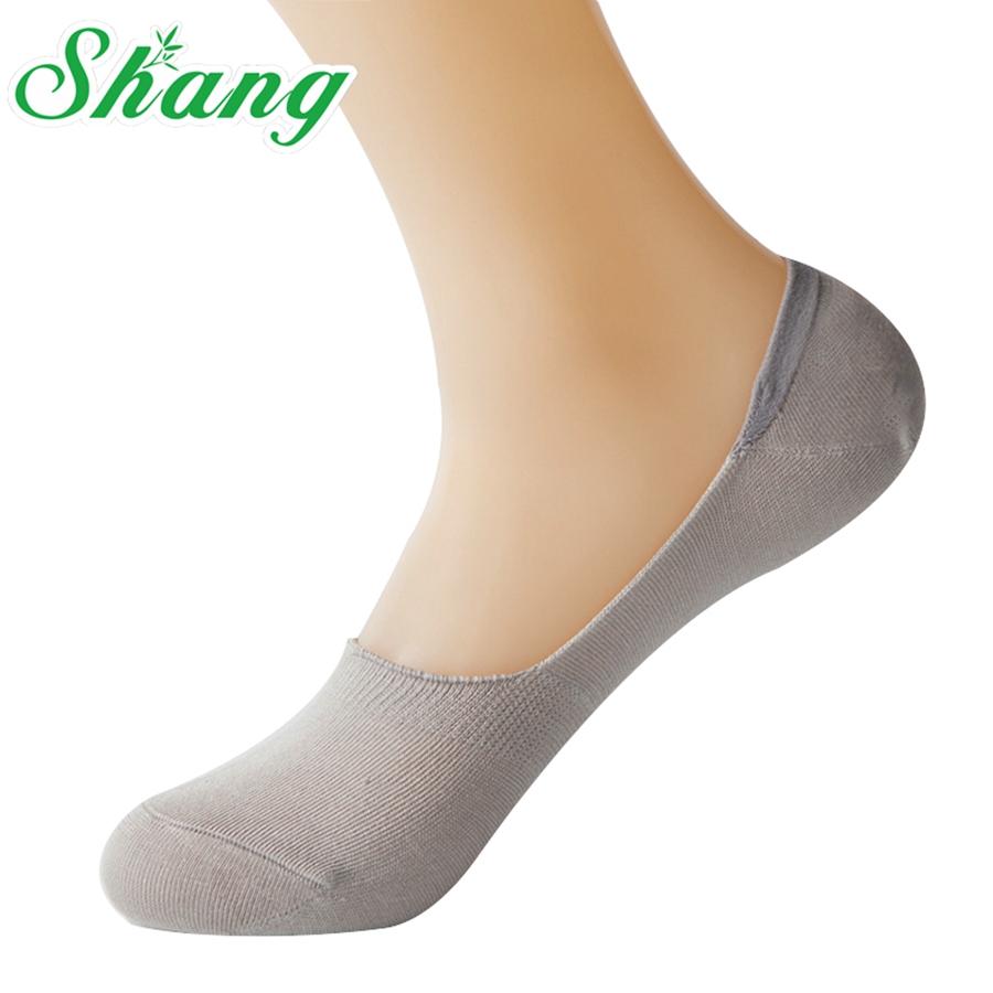 Shang Brand men Bamboo Fiber men Socks Slippers cute The silicone antiskid Invisible boat socks man Breathable socks LQ-56(China (Mainland))