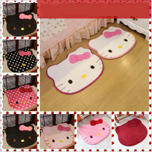 Cute Hello Kitty Carpet Mats rugs carpets for Home Living Room.Non-slip Absorbent Mats(China (Mainland))