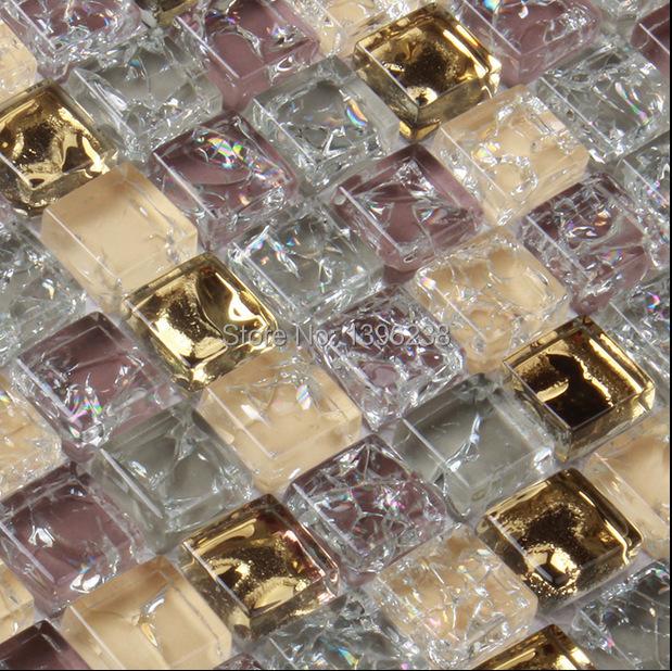 LSICG05,GOLDEN GLASS MOSAIC TILES,ICE CRACK GLASS MOSAIC TILES,GLASS MARBLE MOSAIC TILES(China (Mainland))
