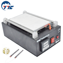 Metal Body Built-in Vacuum Pump Mobile Phone LCD Touch Screen Separator Machine Max 7-inch Lens Glass Repair + 100m Cutting Wire(China (Mainland))