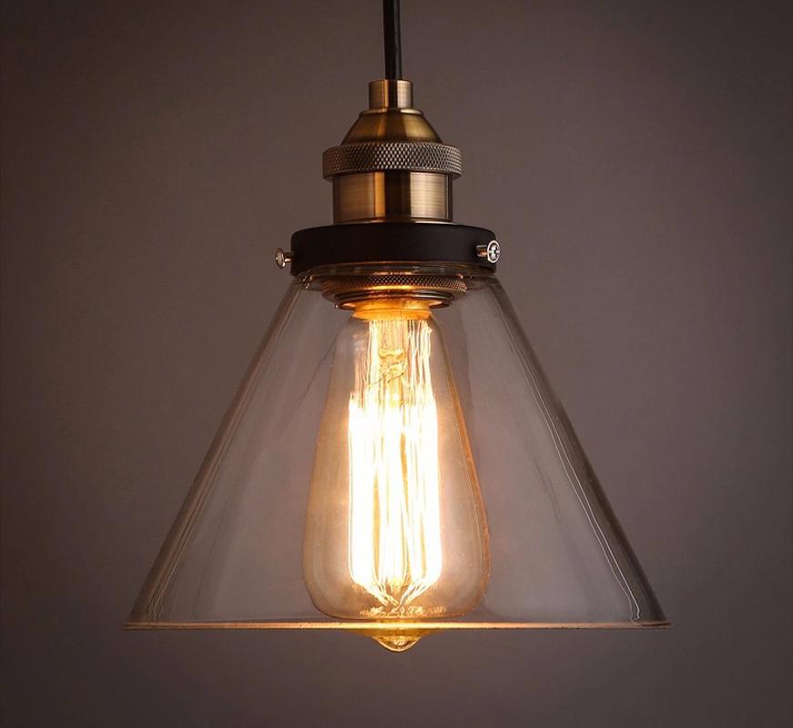 Loft Vintage Pendant Lights Clear Glass Antique Edison Pendant Lamps 110V 220V Dinning Room/Restaurant Home Decoration Lighting